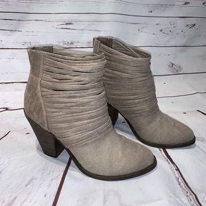 Fergalicious Tan Ankle Boots 7.5